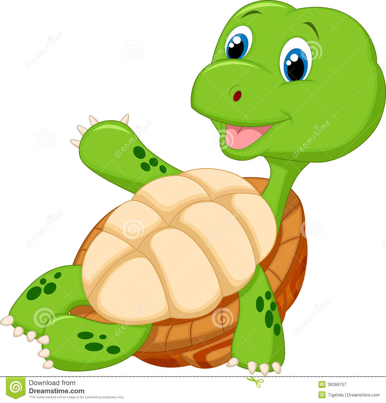 Cute Tortoise Cartoon Relaxing Royalty Free Stock Photography - Image ...