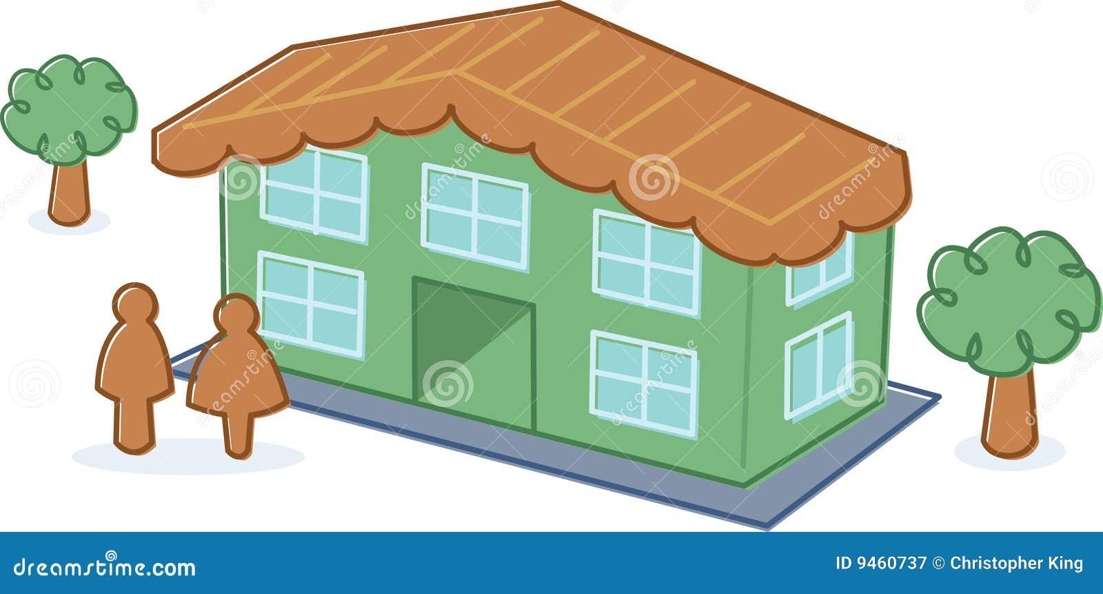 Cute toy dolls house illustration