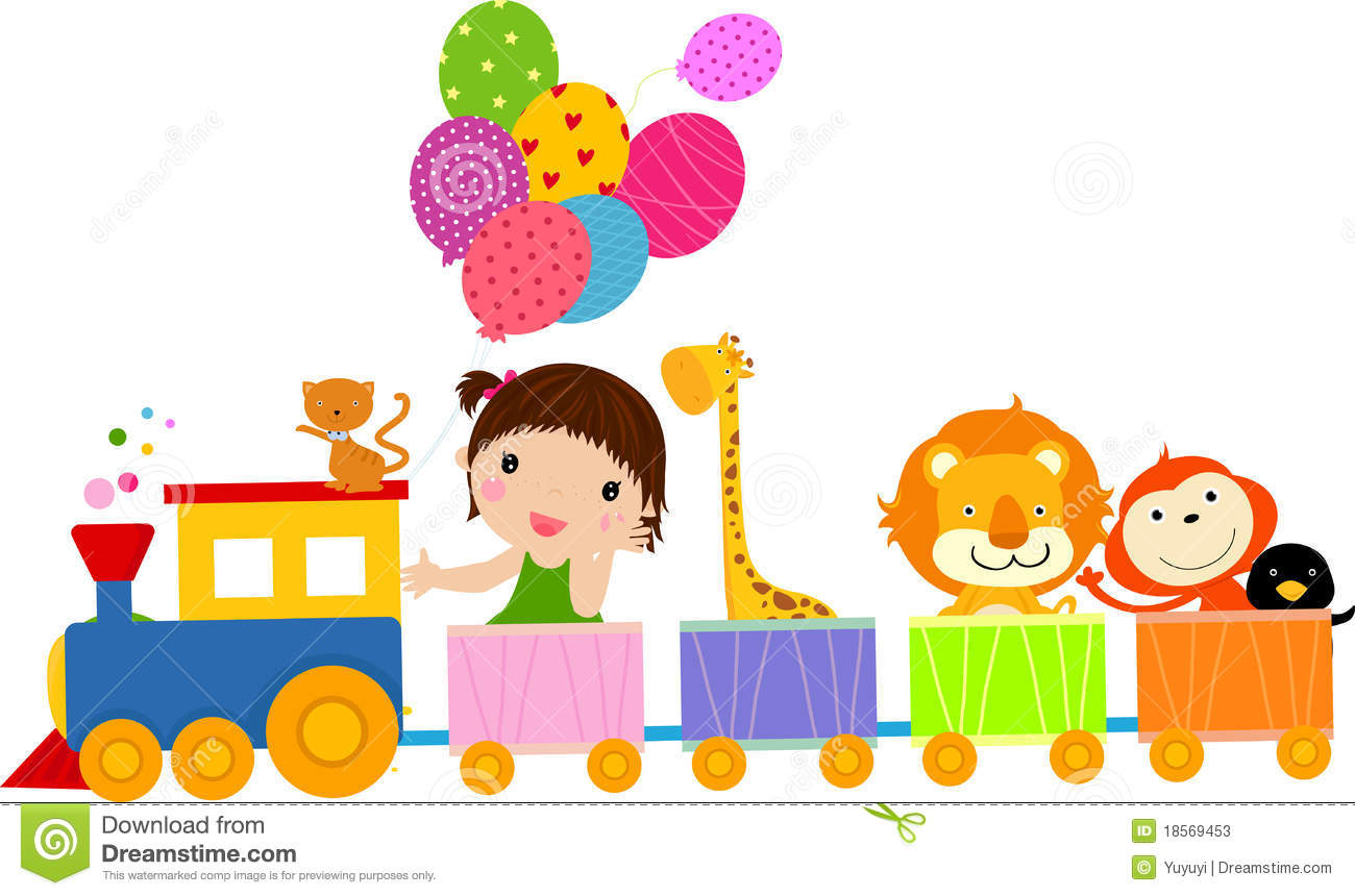 Cute Train And Girl Stock Photos - Image: 18569453