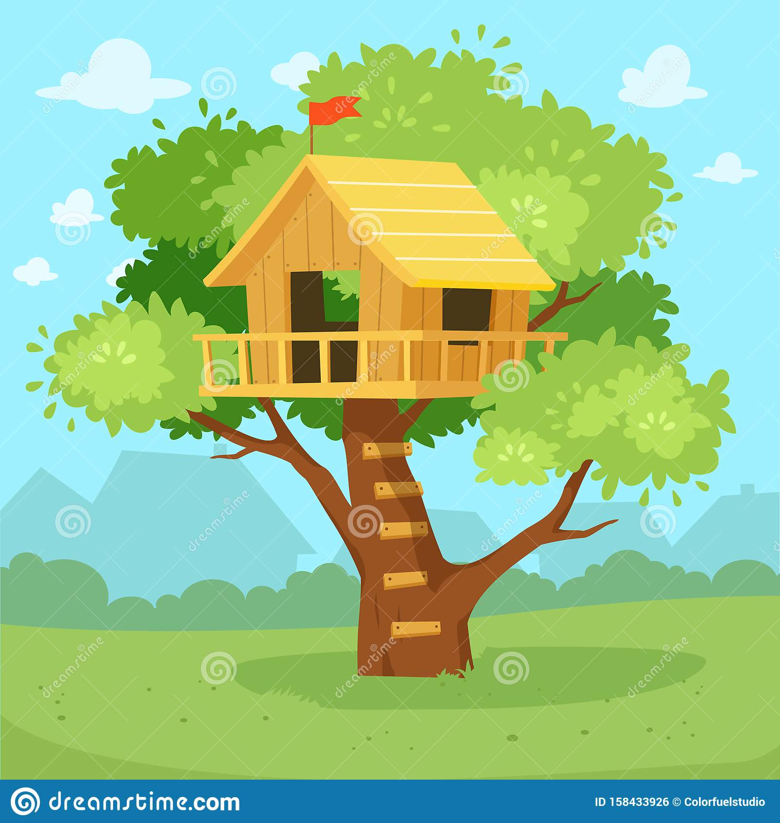 Cute Tree House Cartoon On Jungle Design Stock Vector Illustration Of Play Childhood 158433926 470x621 concept drawing for the steam punk treehouse by shane washburn. https www dreamstime com cute tree house cartoon jungle design kindergarten kids fantasy graphic oak children club play ladder swing drawing game image158433926