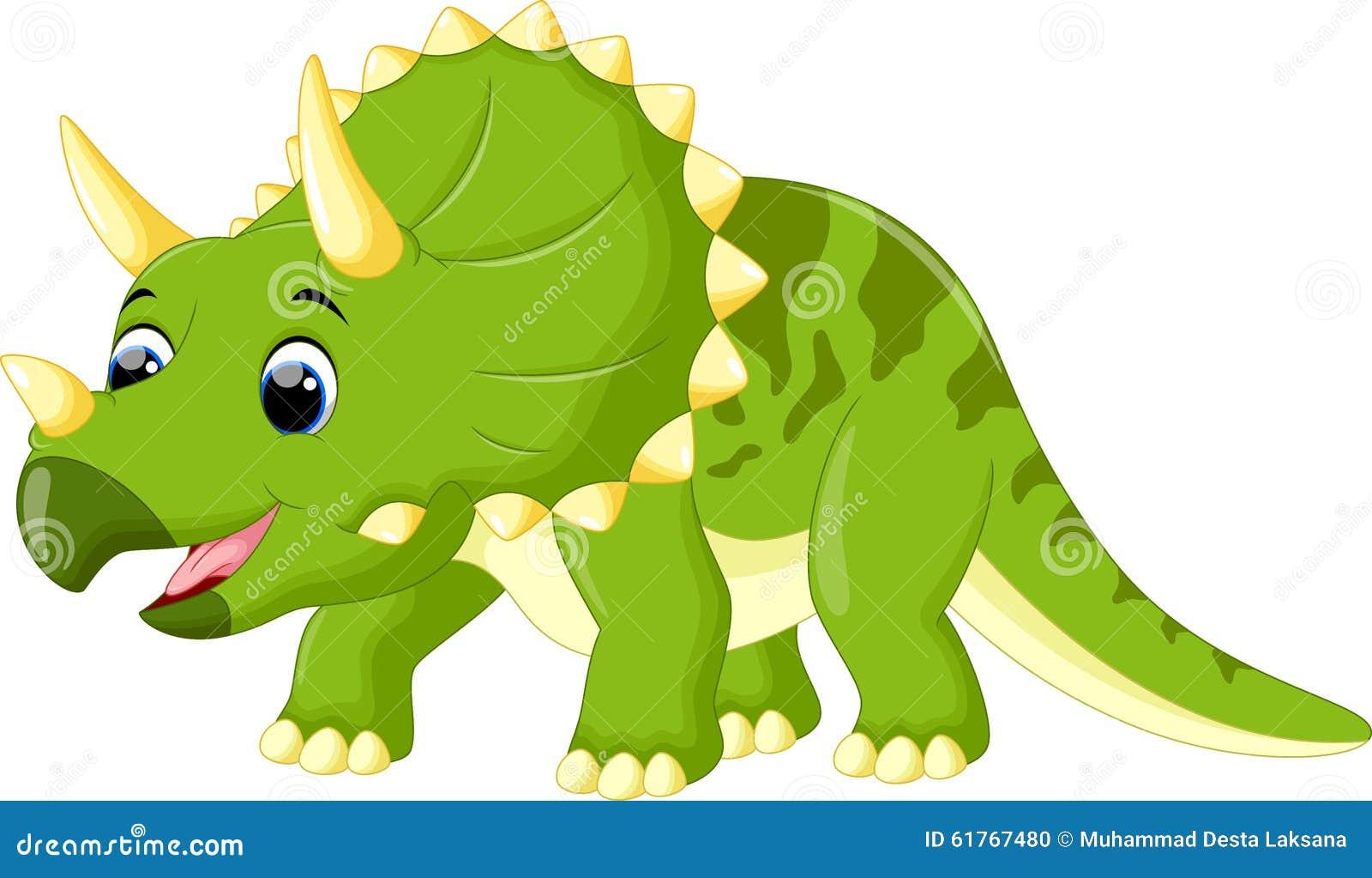cute triceratops cartoon stock illustration image of