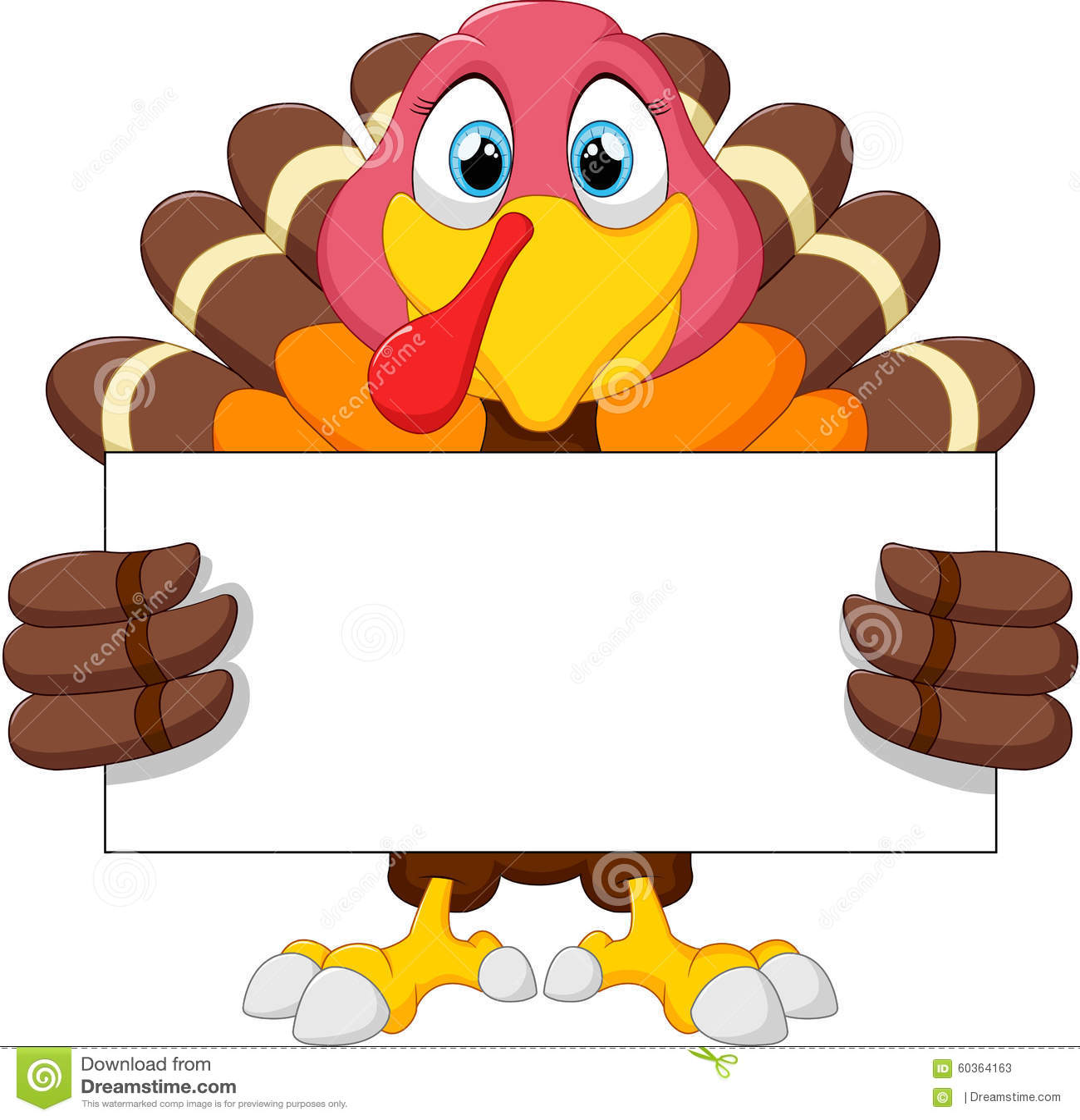 Cute turkey cartoon stock illustration. Illustration of ...