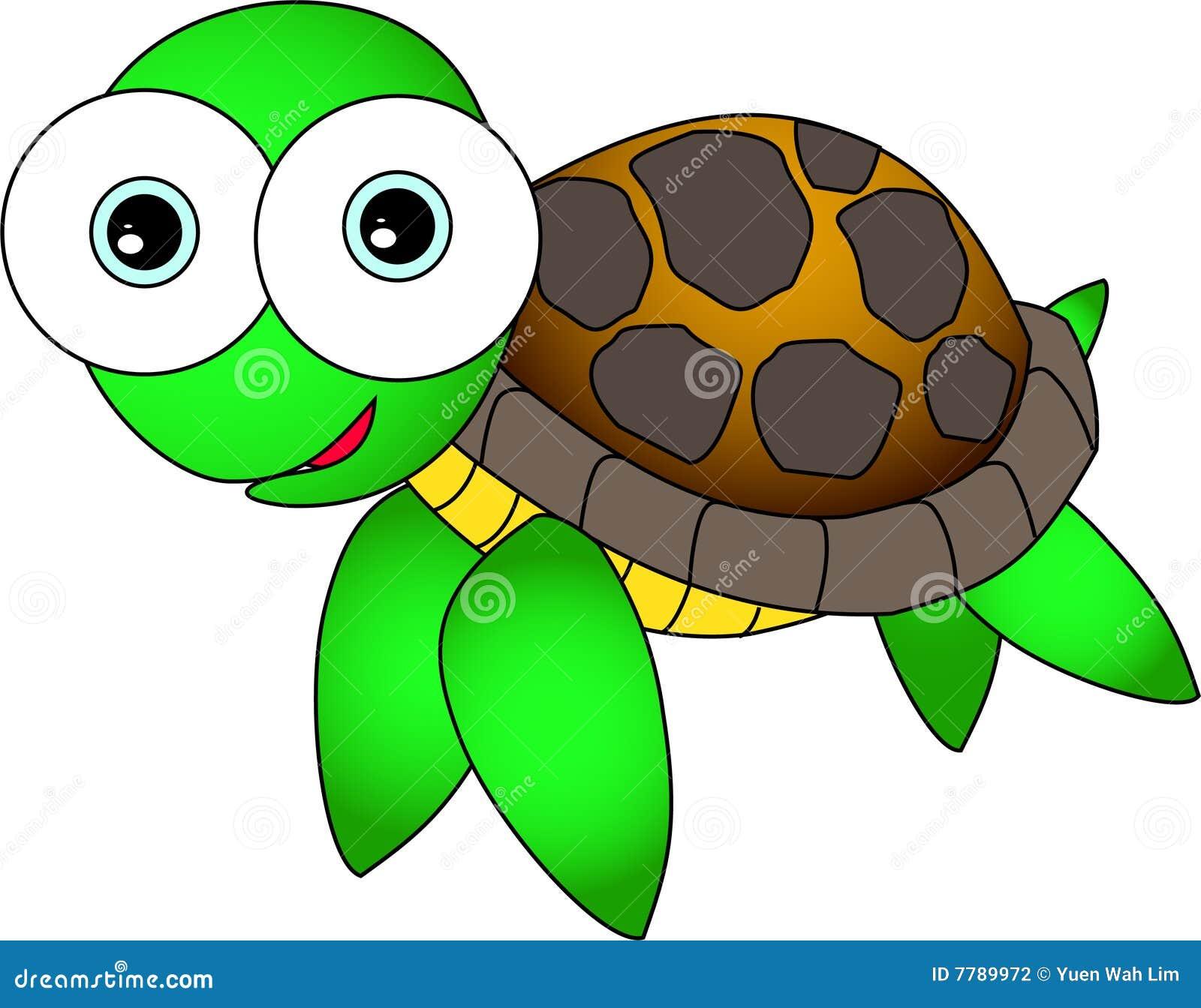 Cute Turtle Stock Vector Illustration Of Cartoon Clip 7789972