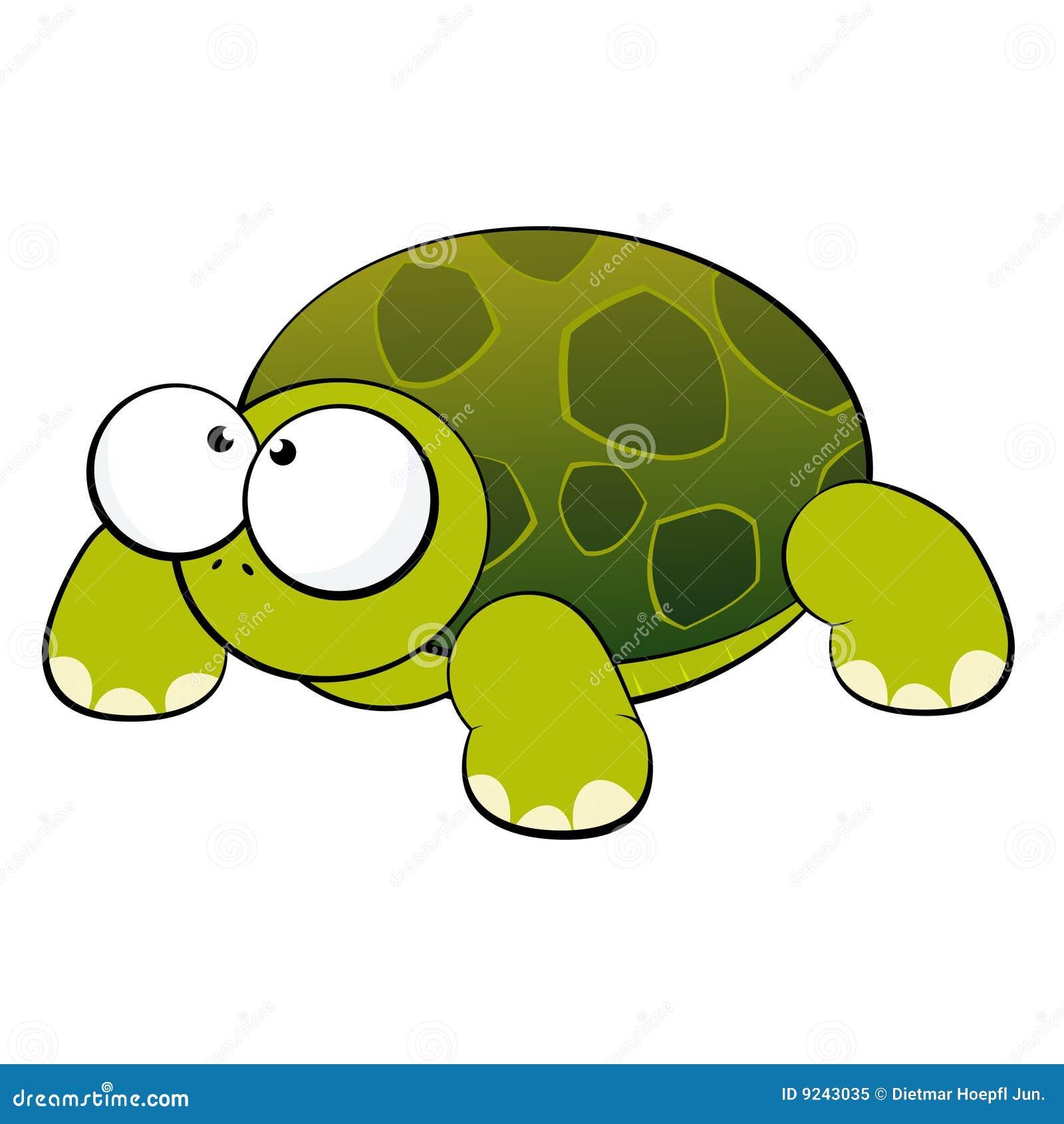 Cute cartoon turtle with big eyes - photo#13