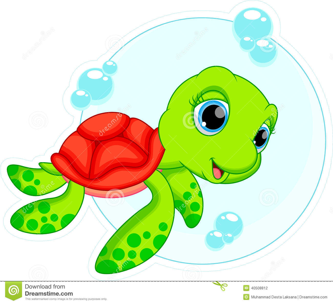 Cute Turtle Cartoon Stock Illustration Illustration Of Hand