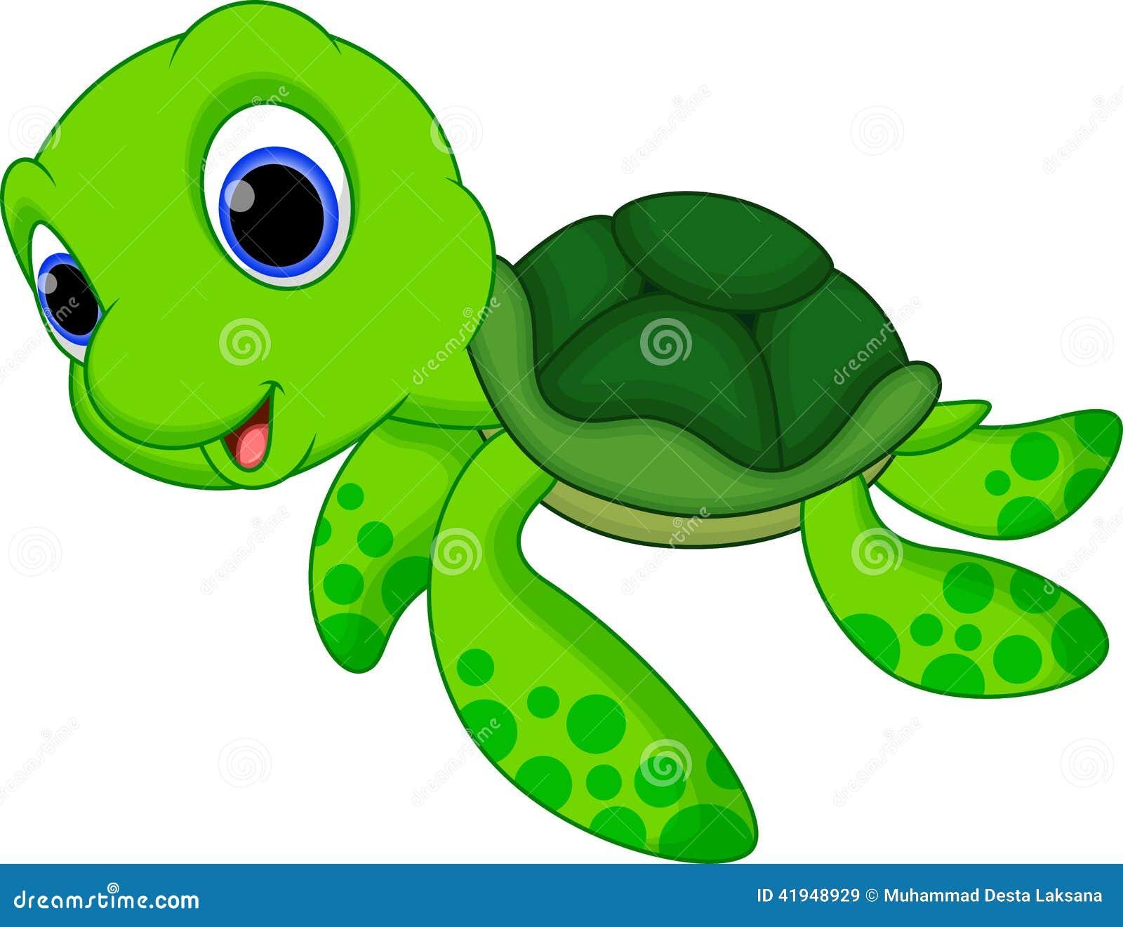 cute turtle cartoon stock illustration illustration of swim 41948929
