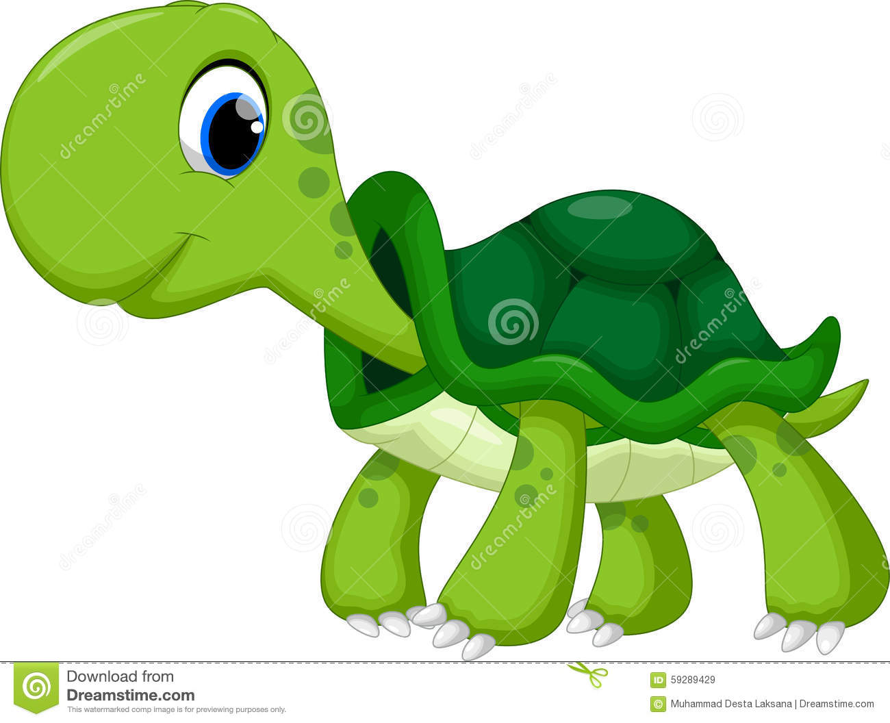 Cute Turtle Cartoon Stock Illustration - Image: 59289429