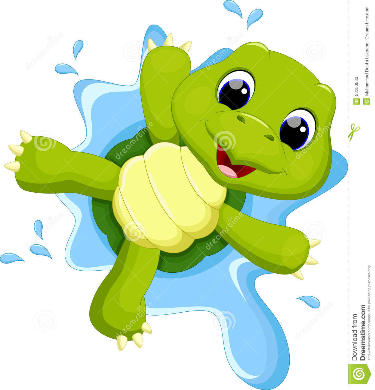 Cute Turtle Cartoon Stock Illustration - Image: 53250530