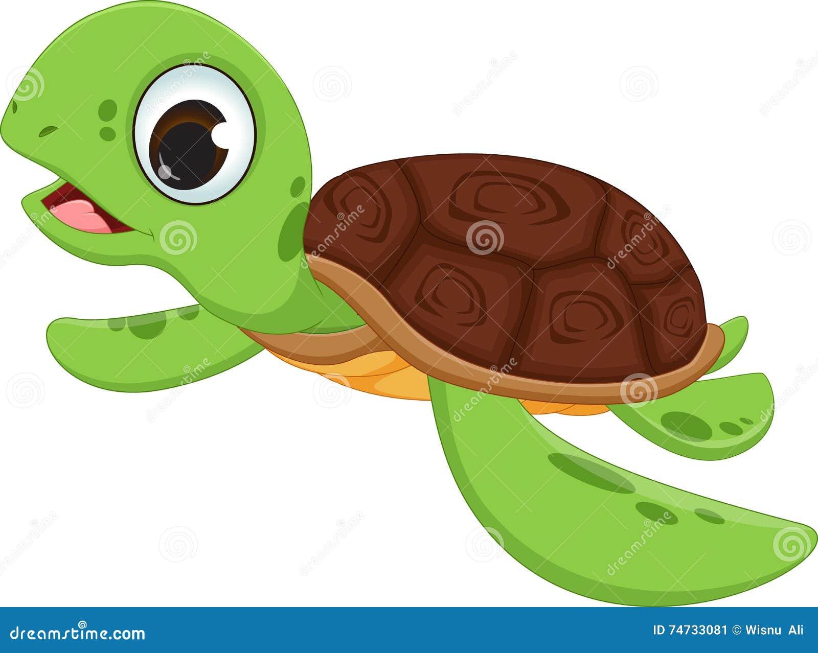 Cute Turtle Cartoon Stock Vector Illustration Of Amphibian 74733081