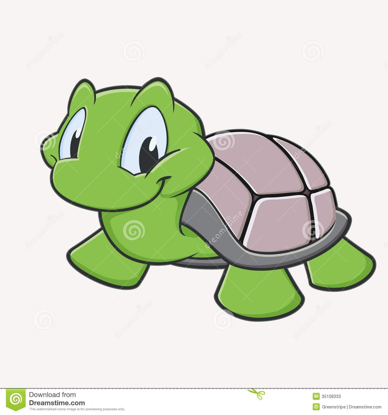 Cute Turtle Stock Vector Illustration Of Baby Vector 35108333