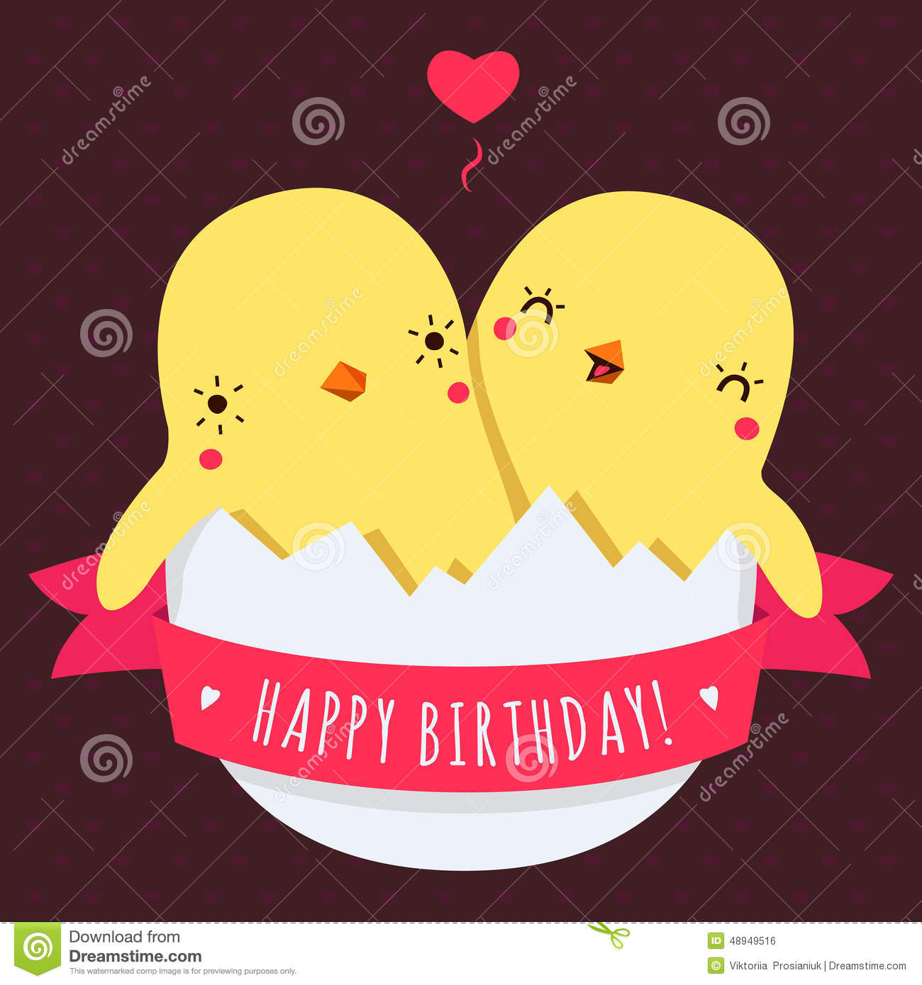 cute twins baby chickens in egg vector happy birthday card stock, Birthday card