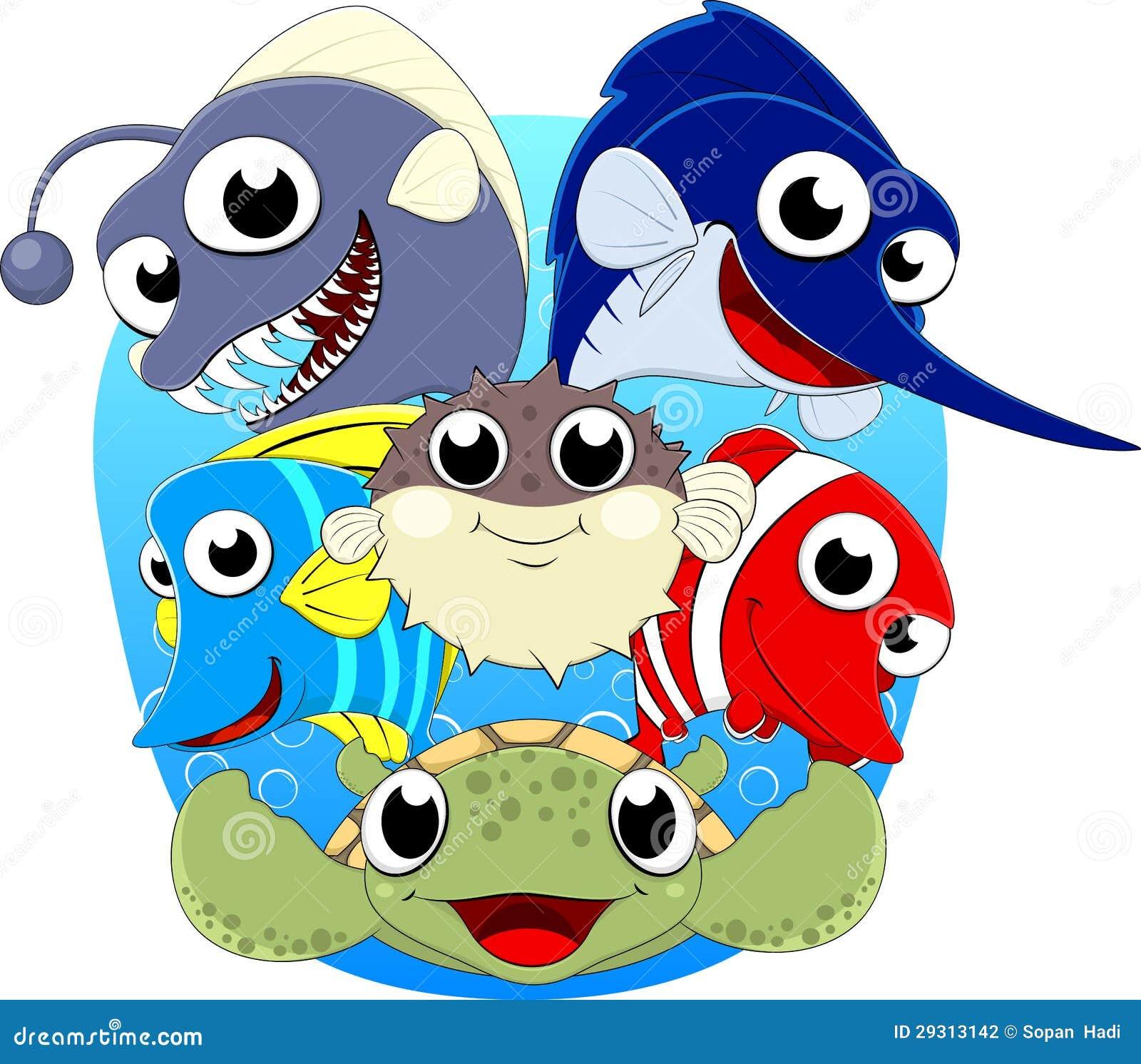 Cute Under Sea Animal Set Stock Photography - Image: 29313142
