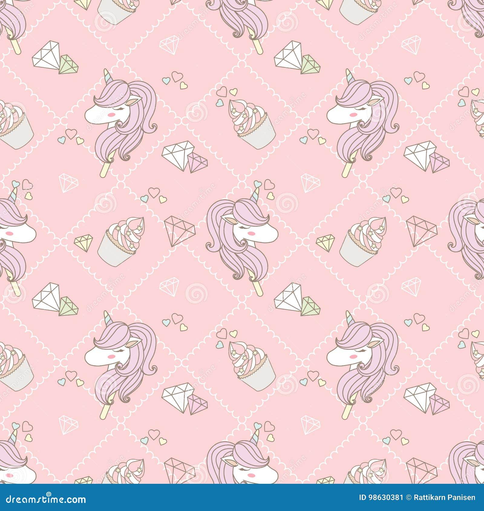 Cute Unicorn And Cupcake Stock Illustration Illustration Of Pastel