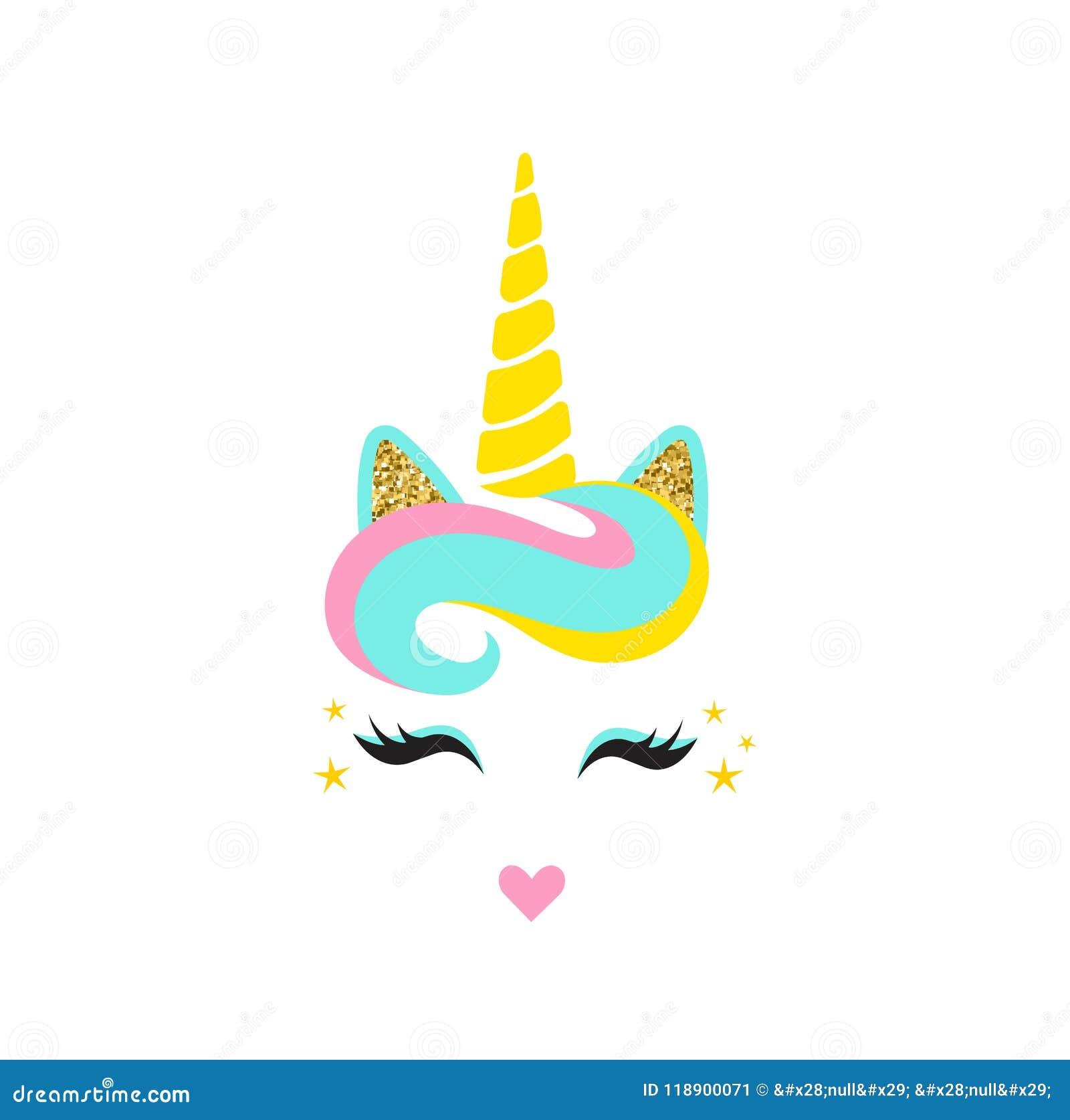 Unicorn Horn /& Ears Rose Gold Glitter with eyelashes