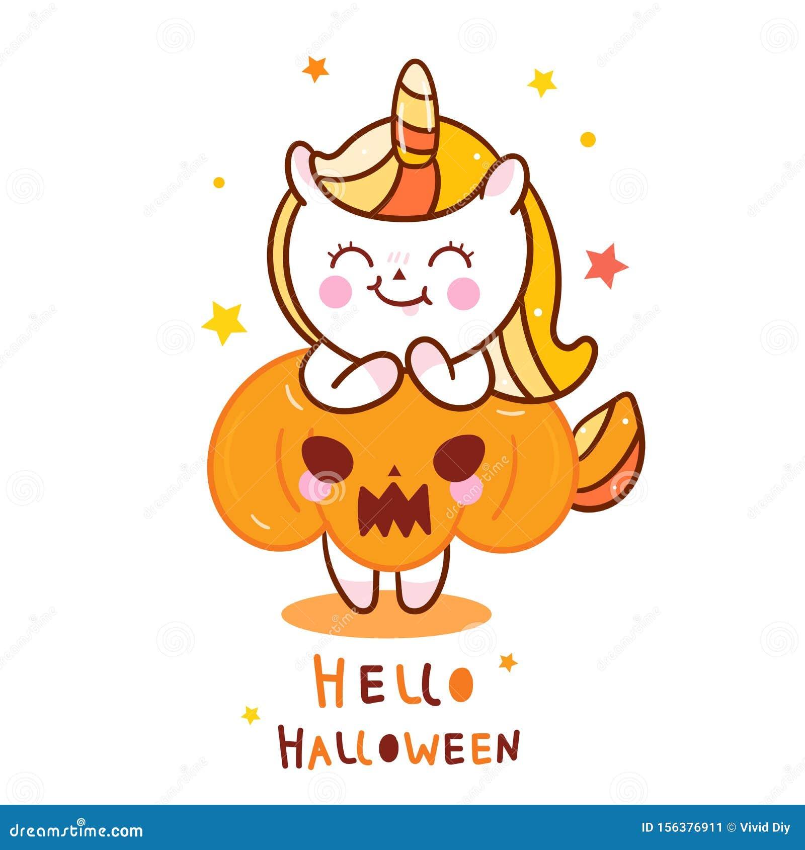 Cute Unicorn Halloween Vector With Pumpkin Cartoon Pretty Pony Horse Trick Or Treat Holiday Festival Doodle Nursery Decor Stock Vector Illustration Of Draw Bakery 156376911