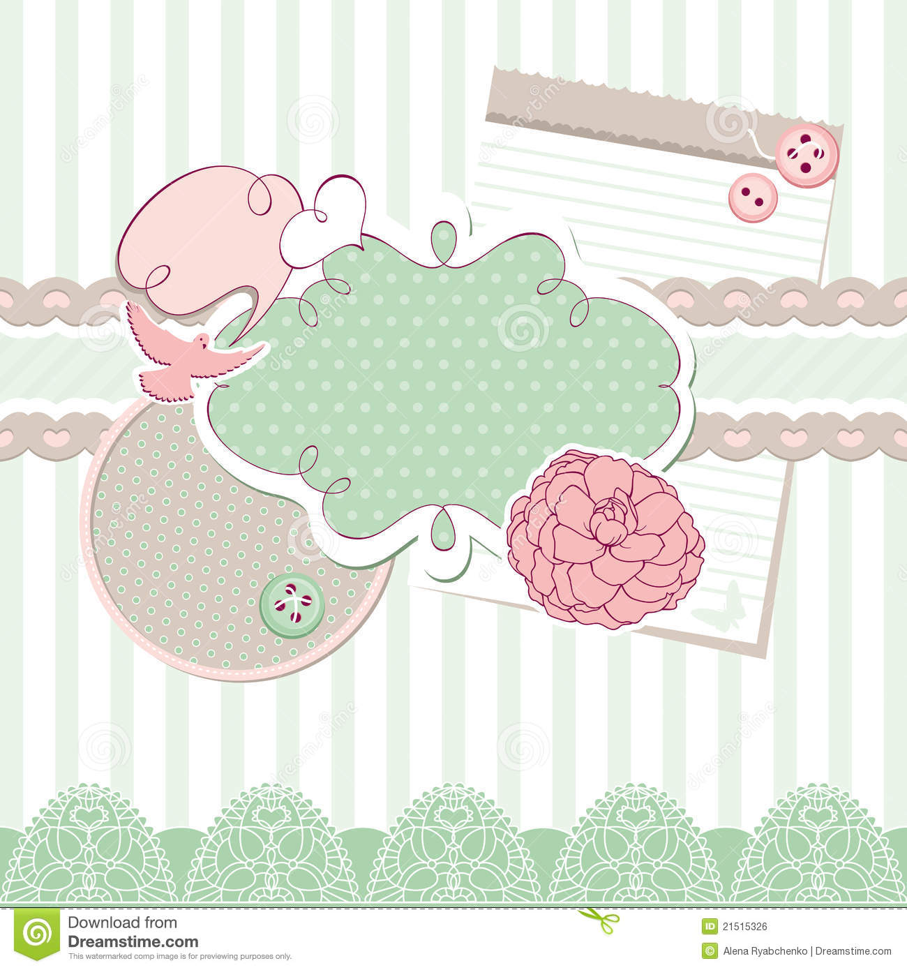 Cute Vector Baby Frame Stock Illustrations