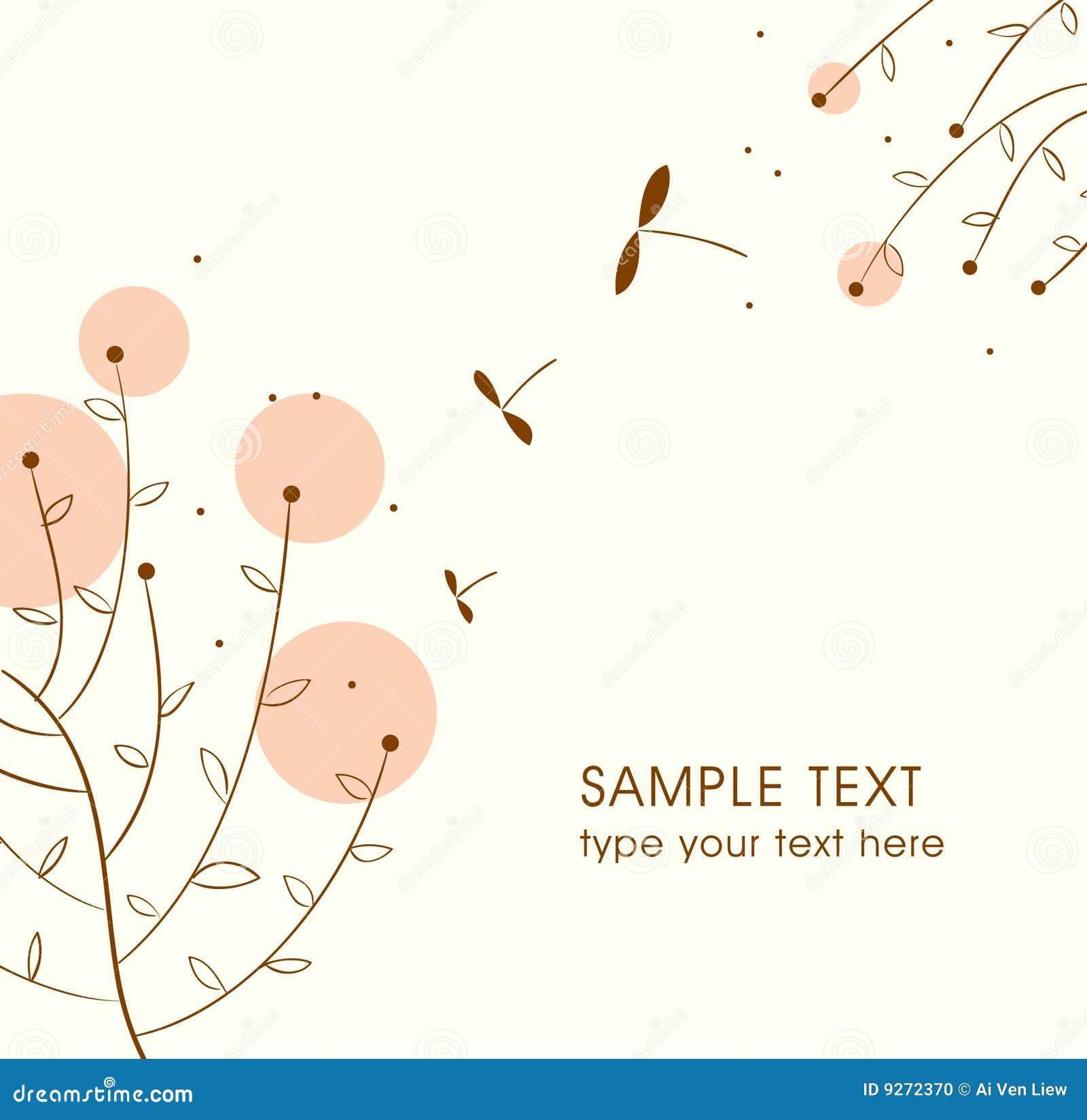 Cute vector card design