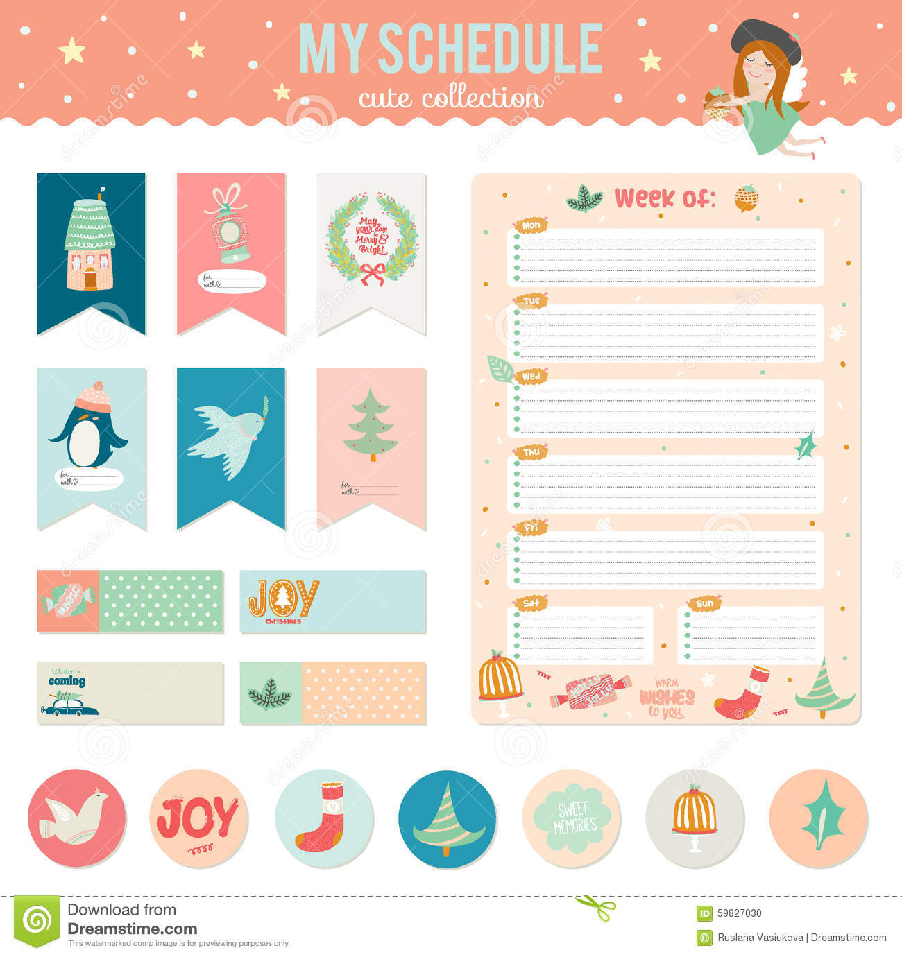 It is an image of Bright Cute Label Templates