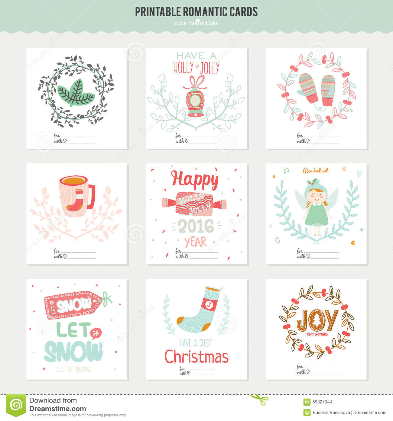 Cute vector christmas cards and stickers stock vector illustration cute vector christmas cards and stickers m4hsunfo