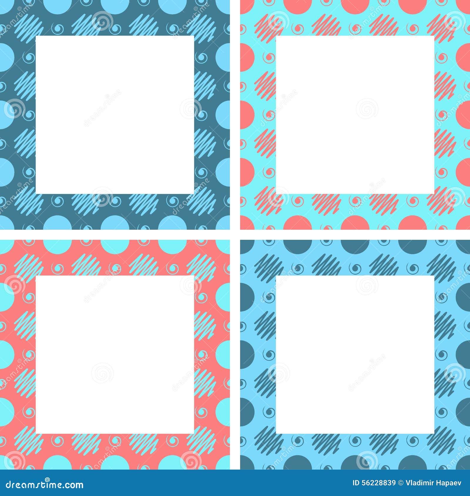 Cute Vector Frames Set. Vintage Frames Set Stock Vector ...
