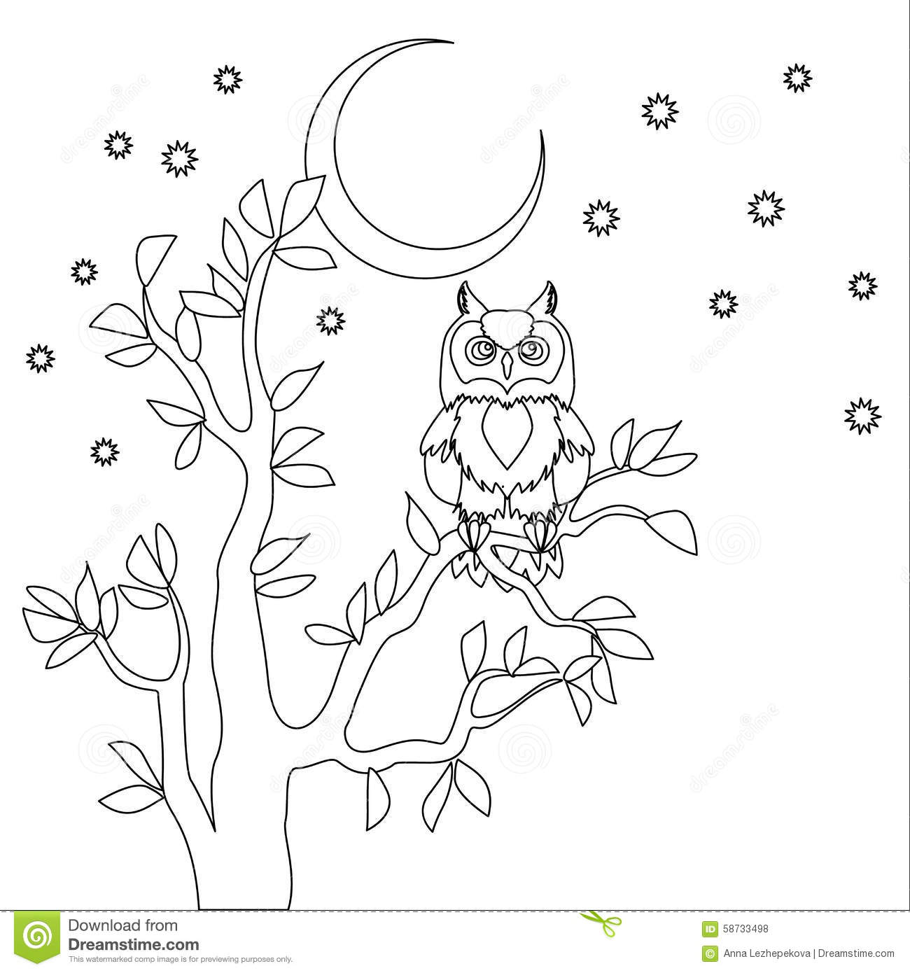night time coloring pages - photo#11