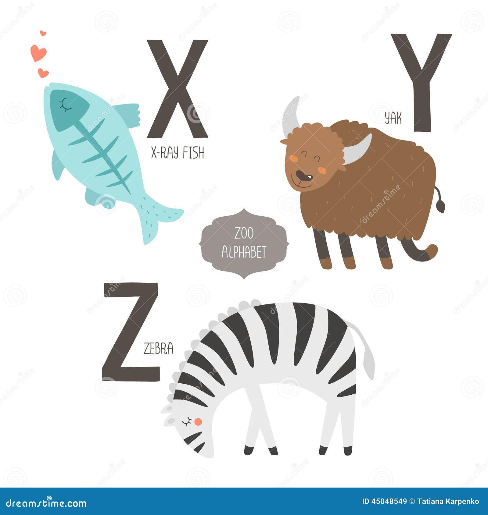 Cute vector zoo alphabet stock vector. Illustration of education