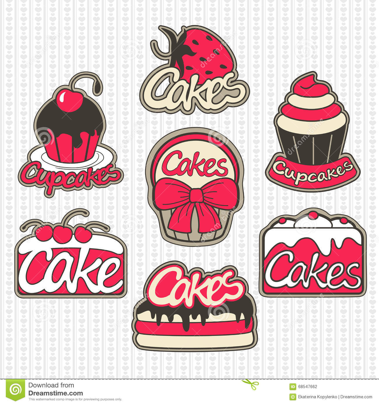 Cartoon Illustration For Bakery Badges And Labels Logo Template