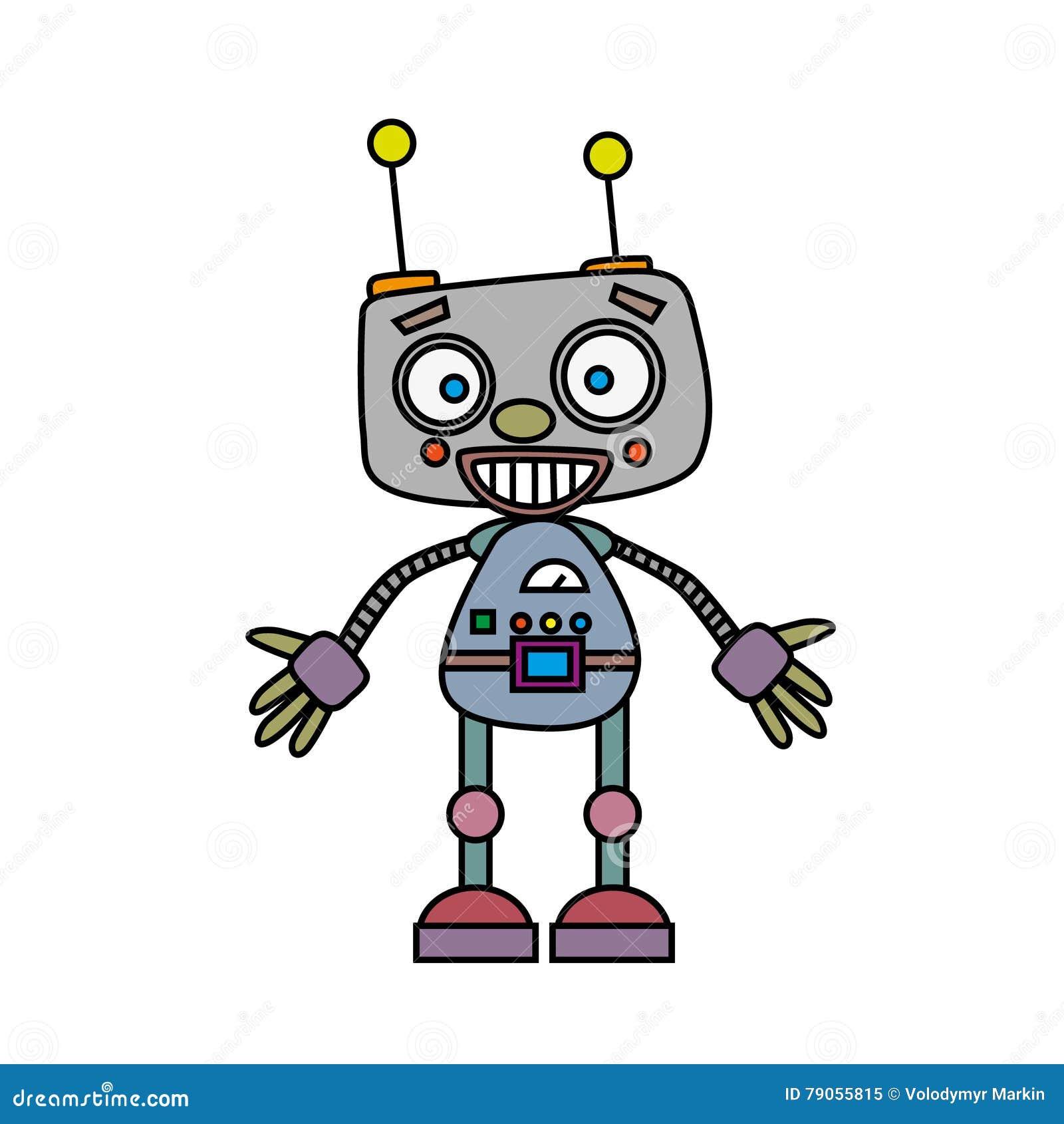 cute vintage robot vector illustration stock vector illustration rh dreamstime com robot vector anki robot vectoriel