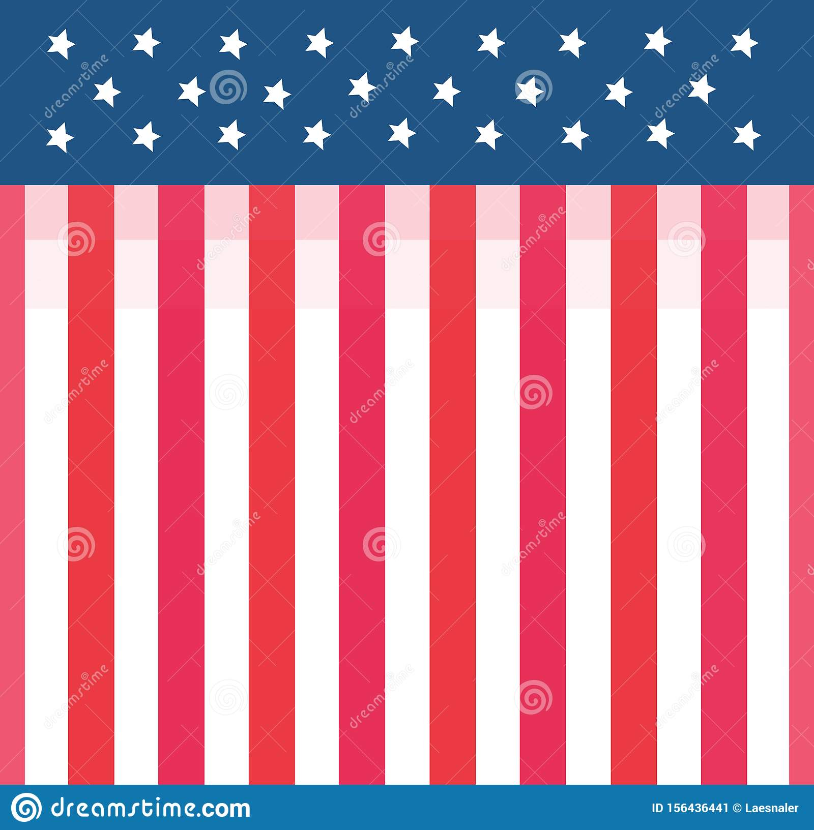 Cute American Flag Country Style Wallpaper Background Stock