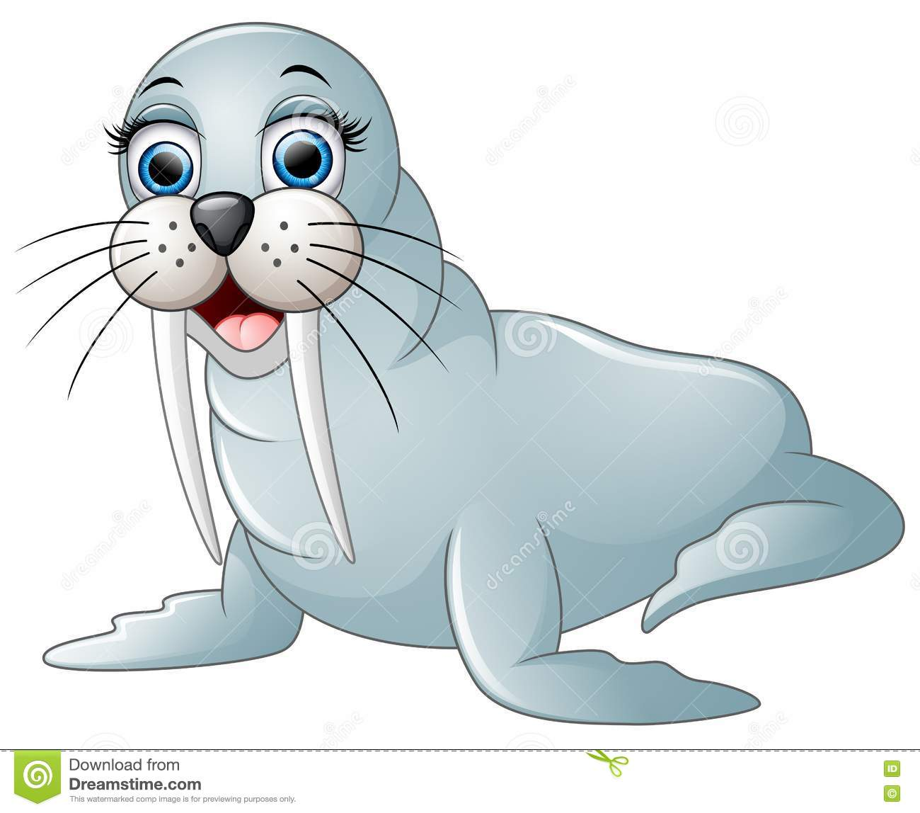 Cute walrus cartoon stock vector. Illustration of cold ...