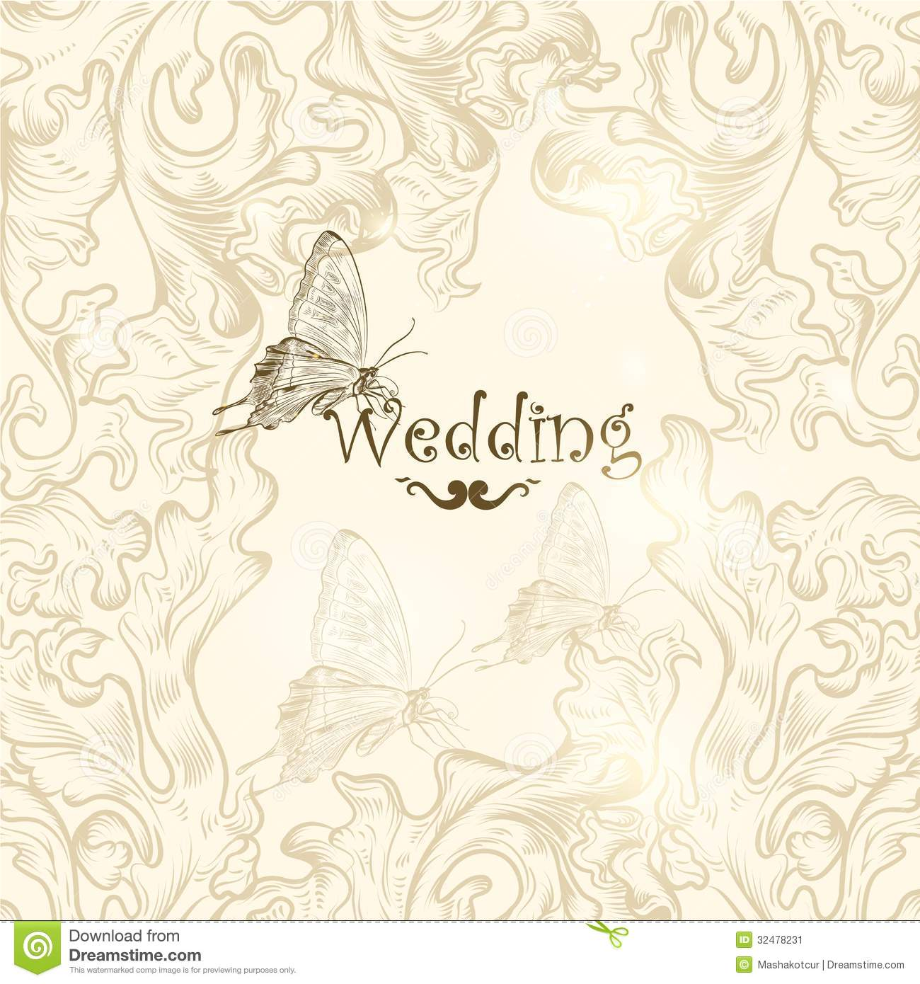 Cute Wedding Background For Design Stock Image