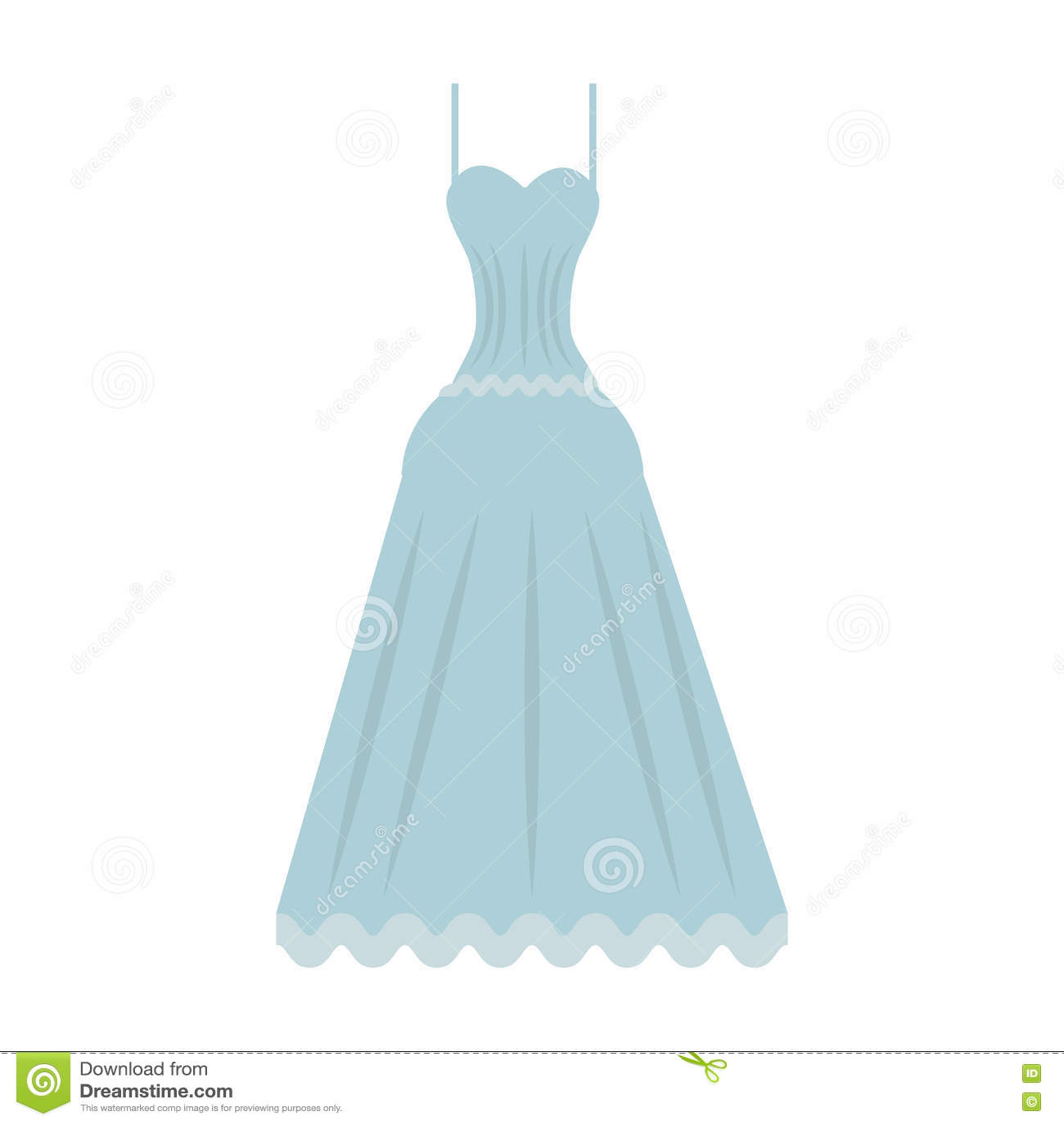 Cute wedding dress icon stock vector. Illustration of illustration ...