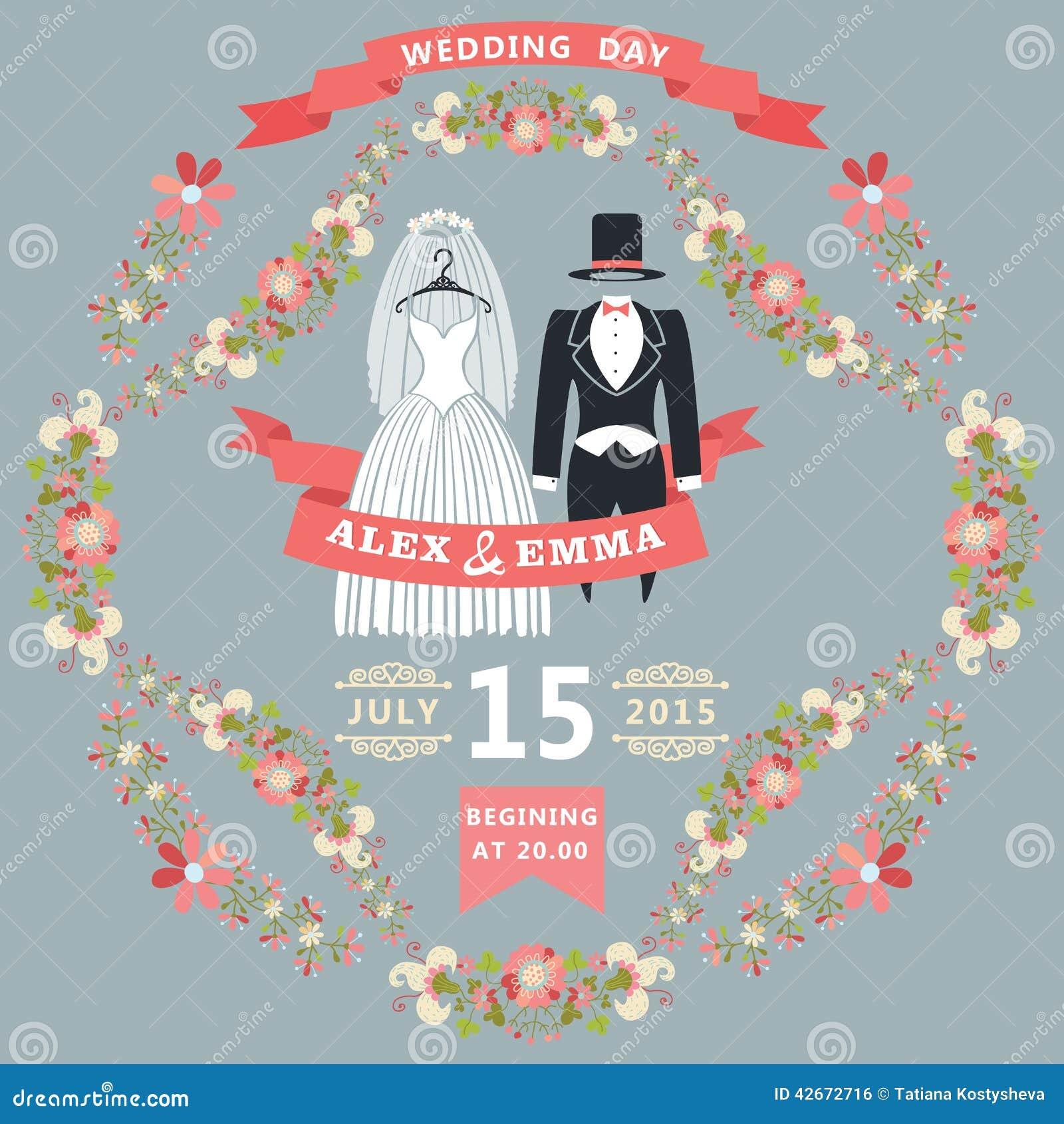 Retro Wedding Invitations is luxury invitation sample