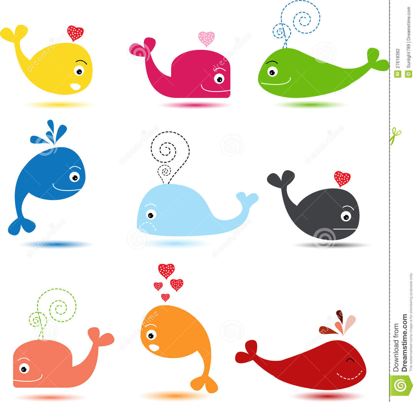 Cute Cartoon Baby Whales Galleryhipcom The Hippest