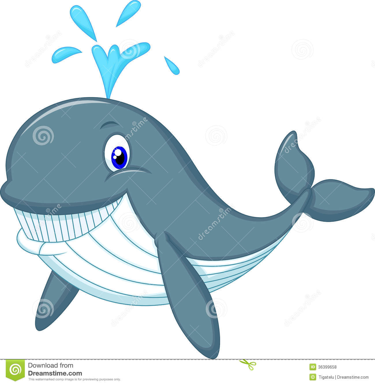 Cute whale cartoon stock vector illustration of colorful