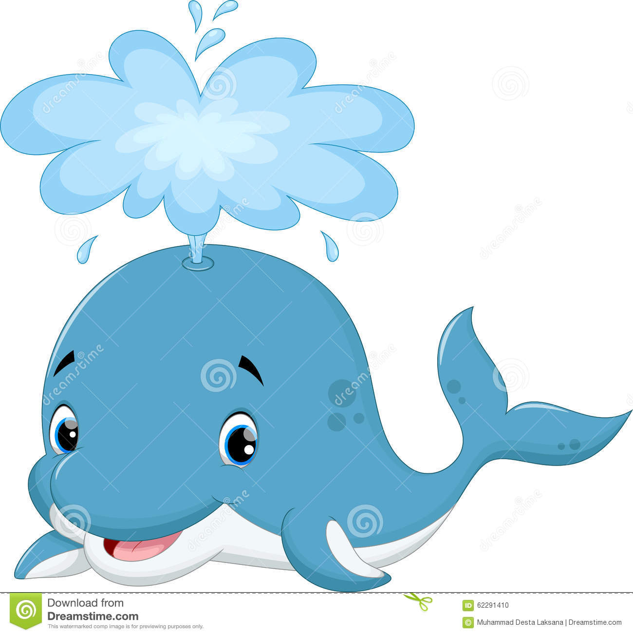 Cute Whale Cartoon Stock Illustration - Image: 62291410