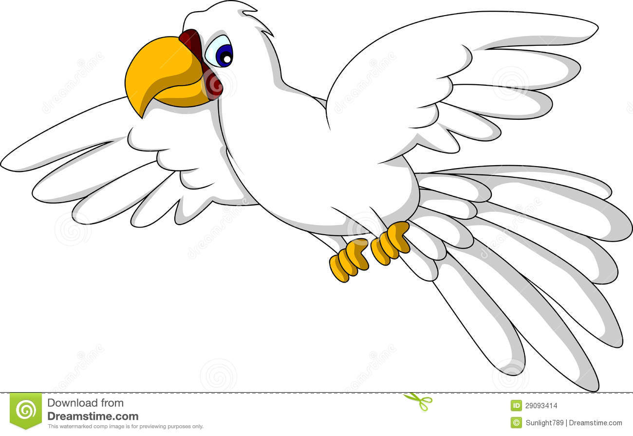 Cartoon parrot flying - photo#24