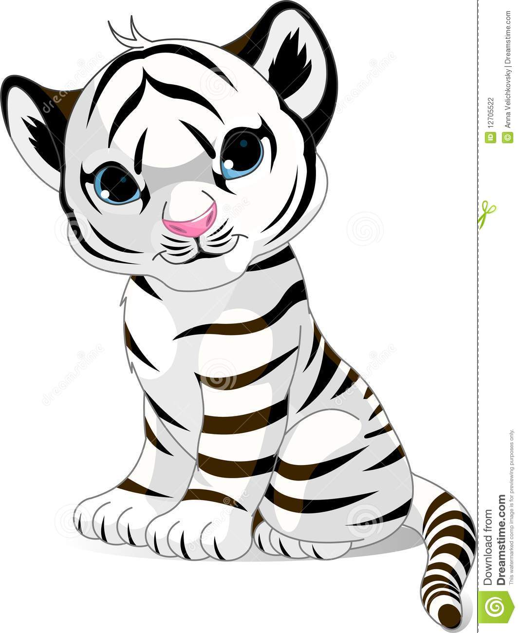 Cute White Tiger Cub Stock Photography  Image 12705522