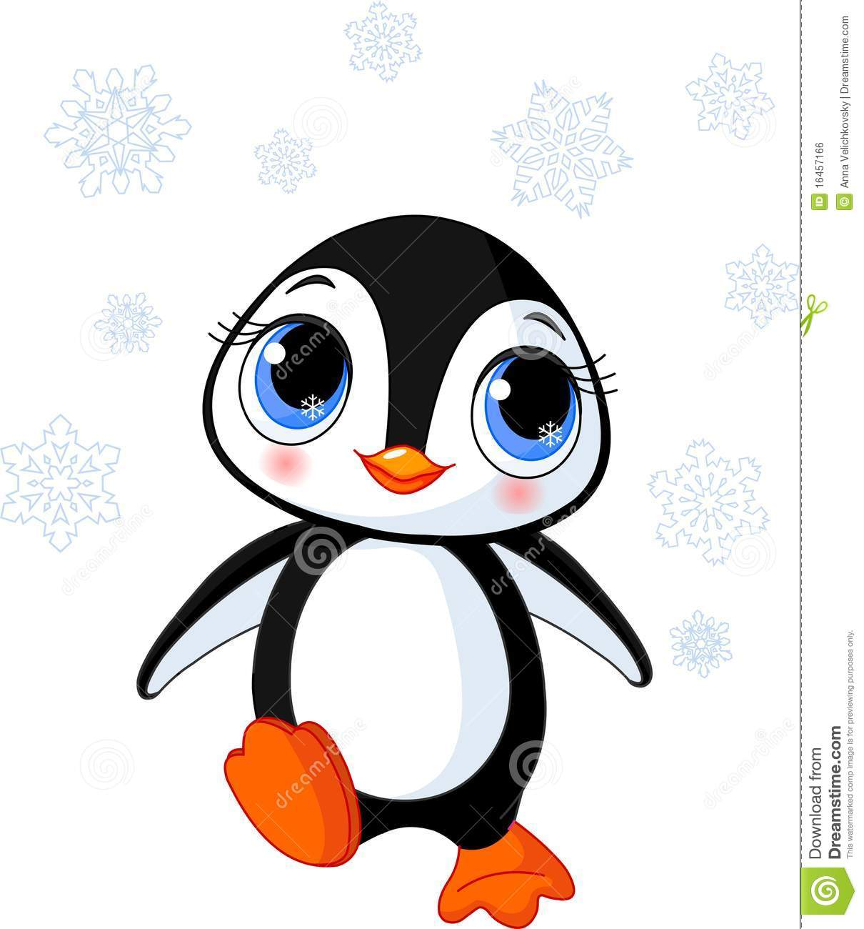 f3a78cc6100 Cute winter penguin stock vector. Illustration of black - 16457166
