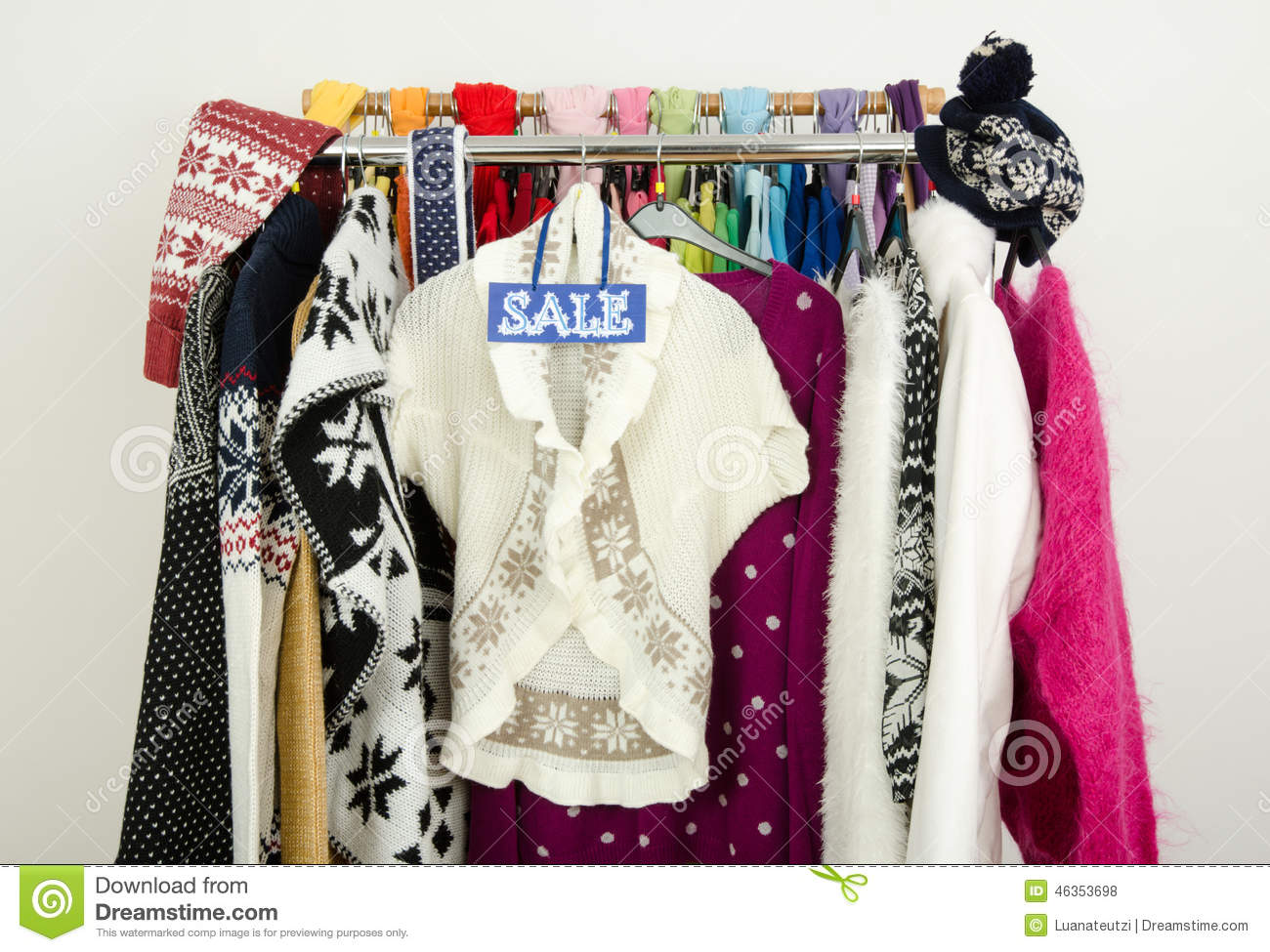Cute Winter Clothes On Sale Cute winter sweaters displayed