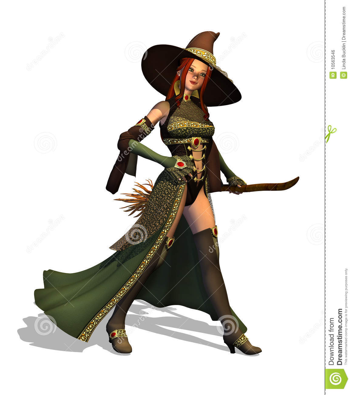 Cute Witch Royalty Free Stock Image Image 10563546