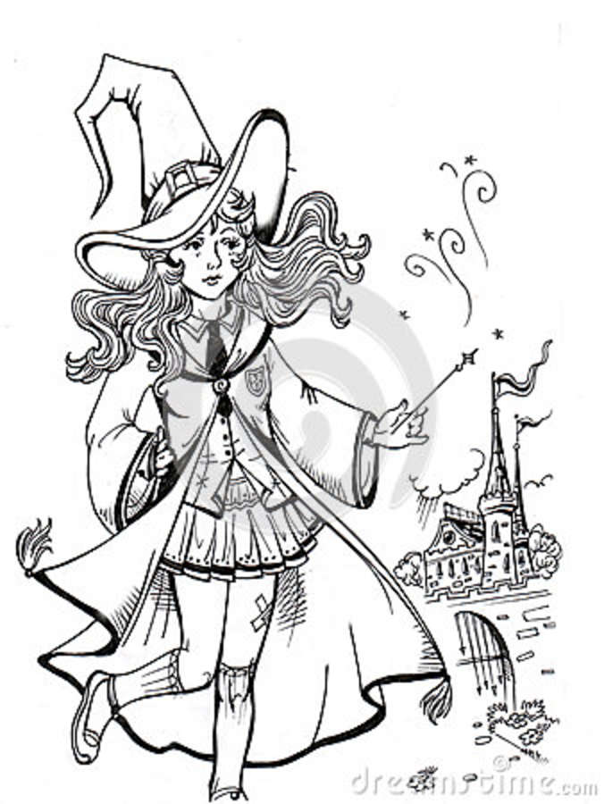 Cute Witch Stock Illustration Illustration Of Lifestyle 79177378