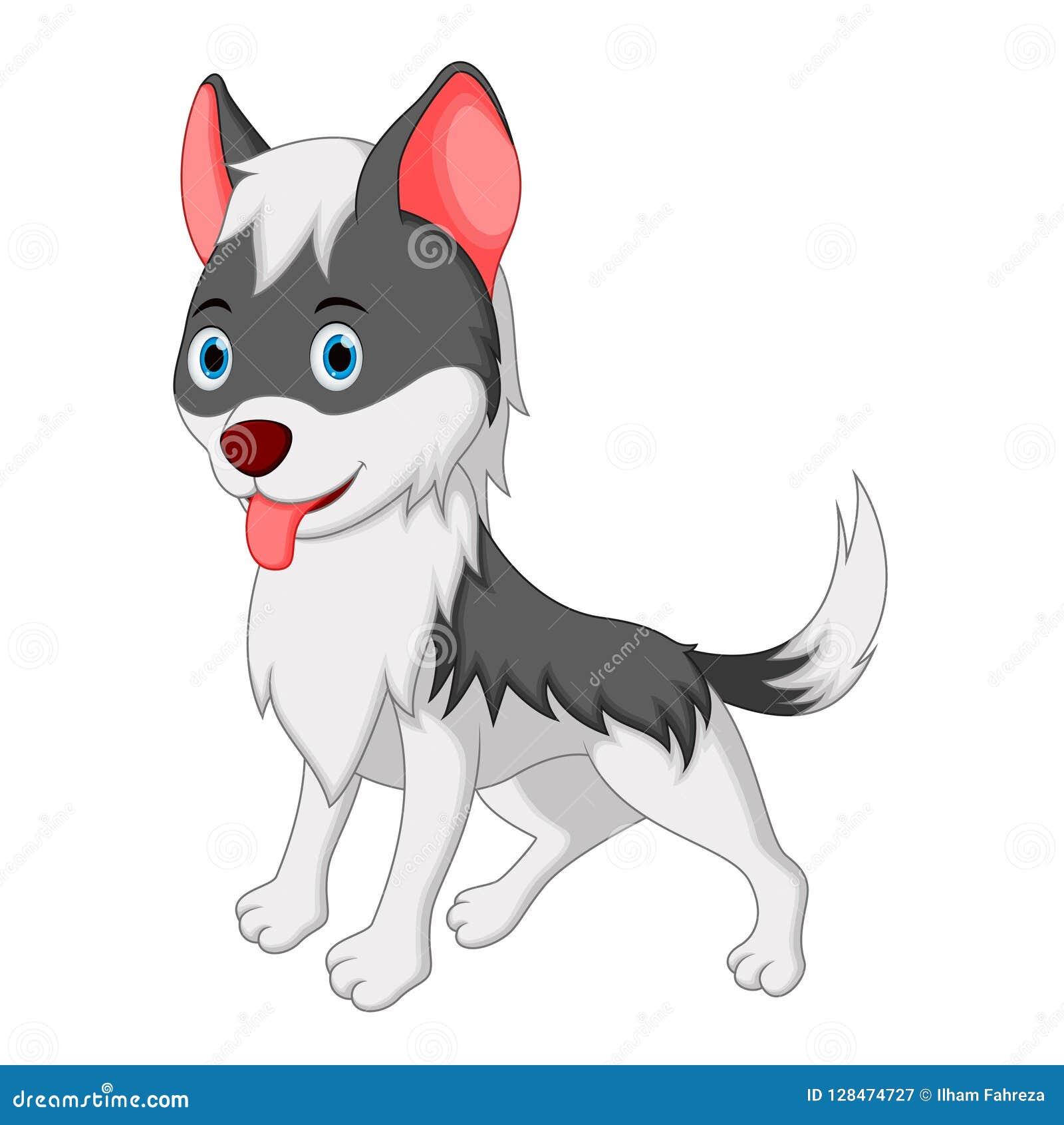 Cute wolf cartoon stock vector. Illustration of casino ... - photo#41