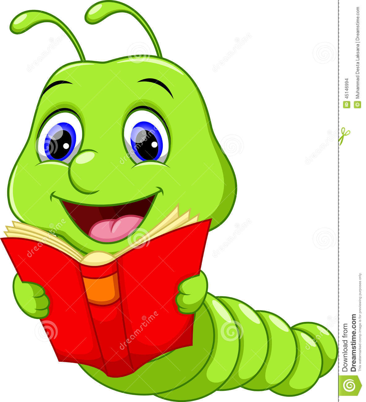 cute worm cartoon illustration 45146994 megapixl