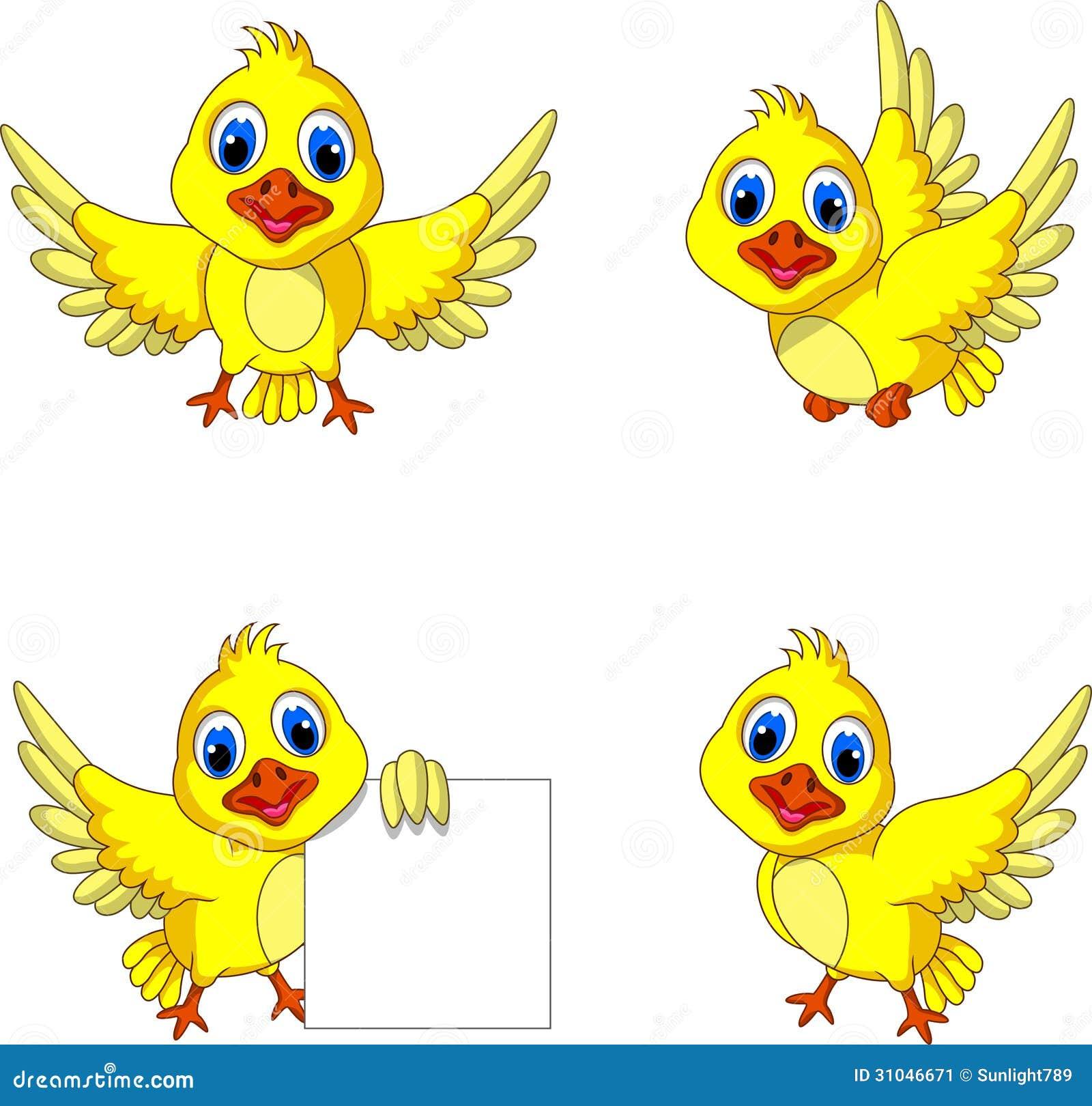 cute yellow bird cartoon collection stock image image 31046671