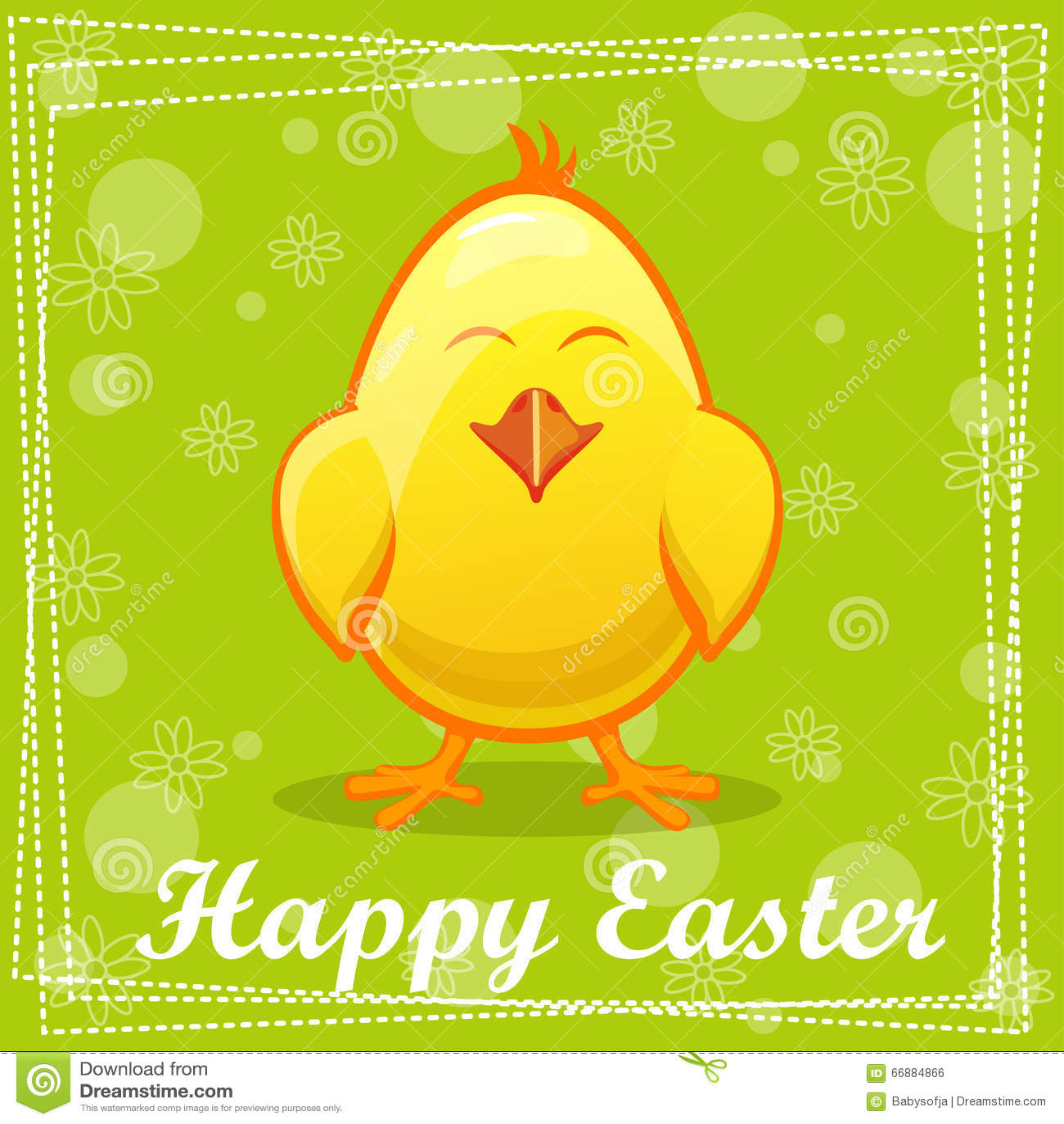 cute yellow cartoon chicken stock vector   image 66884866