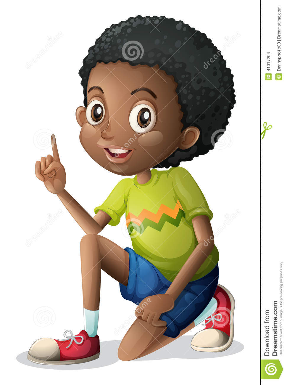 A Cute Young Black Man Stock Illustration - Image 41017206-8216