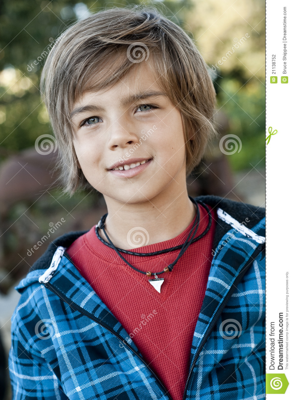 Cute Young Boy Stock Photo. Image Of Male, Young, Outside