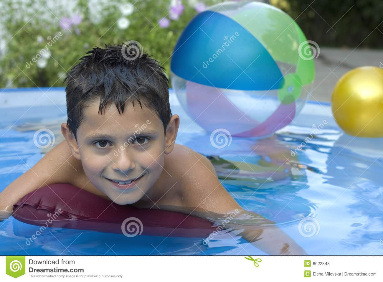 Cute young boy in pool royalty free stock photos image for Cute pool pictures