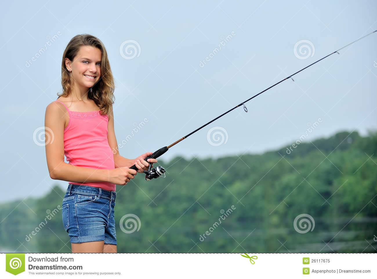 Cute young girl fishing royalty free stock photo image for Topless girls fishing